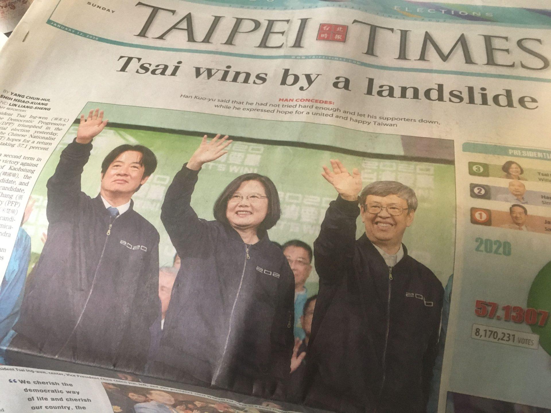 地元紙『TAIPEI TIMES』より